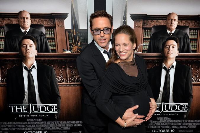 «Судья». Роберт Дауни мл. с супругой Сьюзан на премьере фильма «Судья» в Калифорнии. Фото: MARK RALSTON/AFP/Getty Images | Epoch Times Россия