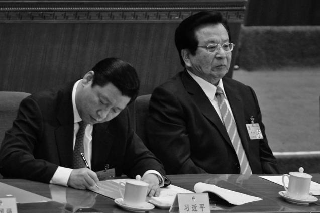 Дело ясное: лидер Китая Си Цзиньпин (слева) внёс бывшего зампредседателя КНР Цзэн Цинхуна (справа) в расстрельный список. Фото: Feng Li/Getty Images   Epoch Times Россия