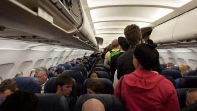 Мама беспокоилась, что её малыш будет раздражать других пассажиров самолёта. Но внушительный сосед по креслу разбил все тревоги!