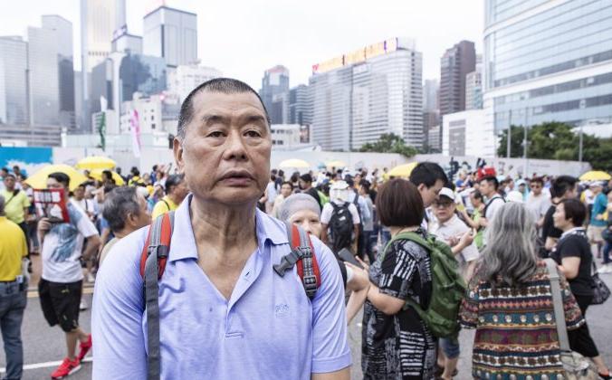 Гонконгский медиамагнат и борец за демократию Джимми Лай присоединяется к протестам против законопроекта об экстрадиции в Китай, Гонконг, 28 апреля 2019 года. Yu Gang/The Epoch Times   Epoch Times Россия