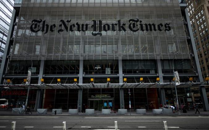 Здание New York Times в Нью-Йорке 30 июня 2020 года. JOHANNES EISELE/AFP via Getty Images | Epoch Times Россия
