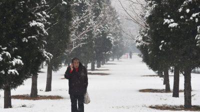 В Китае зафиксированы рекордные перепады температуры