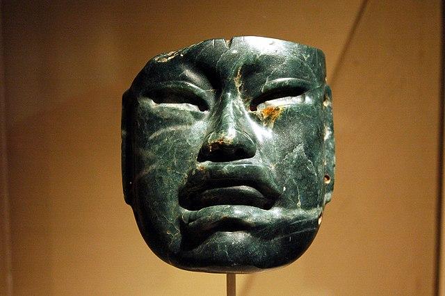 Ольмекская жадеитовая маска, 1000—600 до н. э. Фото: ru.wikipedia.org/CC BY 2.5 | Epoch Times Россия