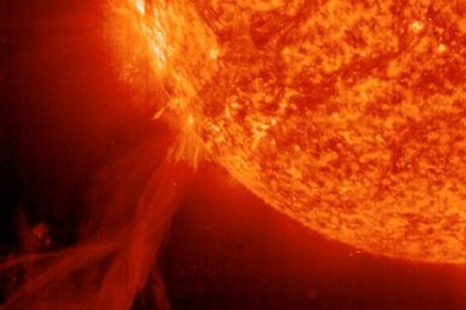 Вспышка на Солнце. Фото: SOHO /ESA /NASA /Getty Images   Epoch Times Россия