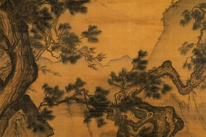 «Тихо слушая ветер в соснах», 13 век до 1246 года, Ма Лин. Висячий свиток. Национальный дворец-музей, Тайбэй, Тайвань. Public Domain | Epoch Times Россия