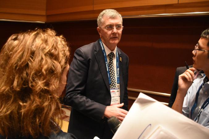Филипп О'Коннелл, бывший президент Общества трансплантологов, на пресс-конференции в Гонконге 19 августа 2016 года. Фото: Sun Mingguo/Epoch Times   Epoch Times Россия