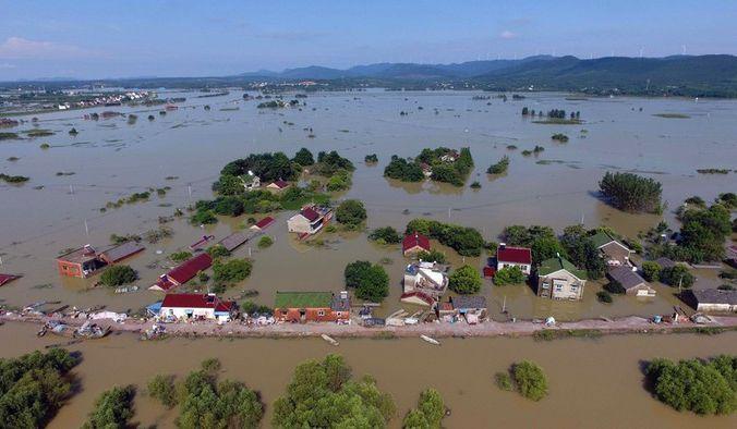 Наводнения в южном Китае. Провинция Аньхой. Июль 2016 года. Фото: STR/AFP/Getty Images | Epoch Times Россия