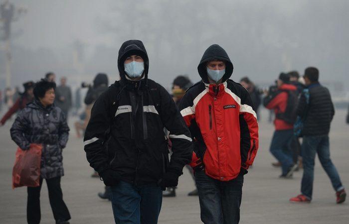 Смог в Пекине. Фото: STR/AFP/Getty Images   Epoch Times Россия