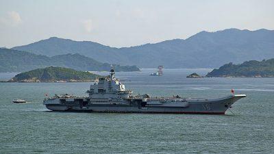 Первый китайский авианосец вышел в Южно-Китайское море