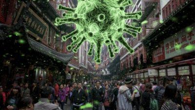 Несмотря на эпидемию нового коронавируса китайцы вышли на рынки и в парки без масок