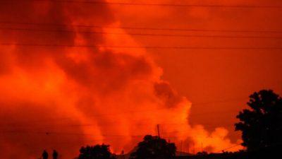 Внезапное извержение вулкана вызвало панику в Конго