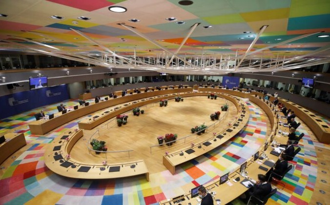 Евросоюз в первый день саммита ЕС в Брюсселе, Бельгия, 24 июня 2021 г. Фото: Olivier Hoslet / Pool via Reuters | Epoch Times Россия