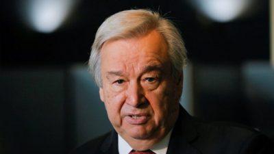 Глава ООН Антониу Гутерриш назначен на второй срок