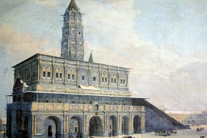 Сухарева башня, картина 1840-1850-х годов. wikipedia.org. Общественное достояние | Epoch Times Россия