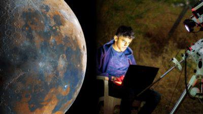 Сверхдетальное изображение Луны создал индийский школьник на обычном ноутбуке