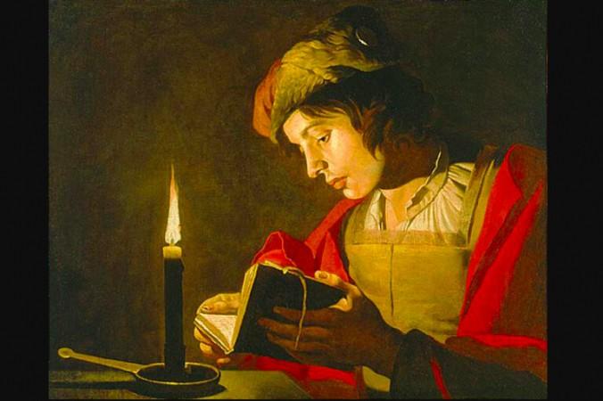 «Юноша, читающий при свечах», 1628–1632, Маттиас Стом. (Всеобщее достояние) | Epoch Times Россия