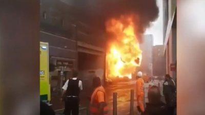 Мощный взрыв прогремел у станции метро в центре  Лондона (Видео)