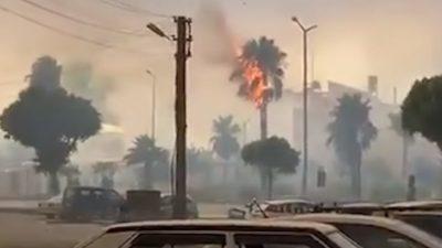 Мощный лесной пожар добрался до курортов Антальи (Видео)