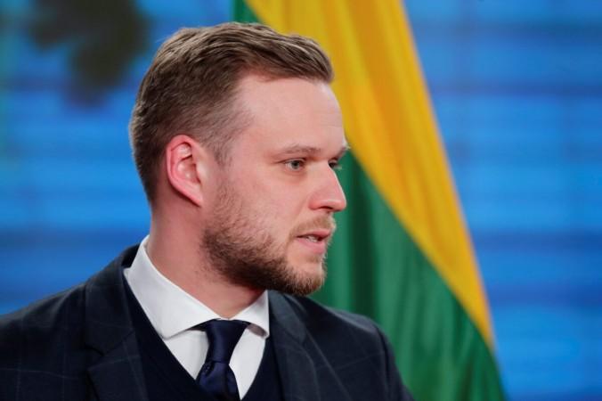 Министр иностранных дел Литвы Габриэлиус Ландсбергис на пресс-конференции со своим немецким коллегой Хайко Маасом в Берлине 17 марта 2021 года. (Hannibal Hanschke / Pool / Reuters) | Epoch Times Россия