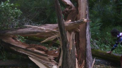 Ураган прошёл по Абхазии и снёс крышу гостиницы