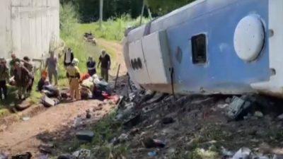 На Кубани разбился автобус с туристами. Двое погибли (Видео)