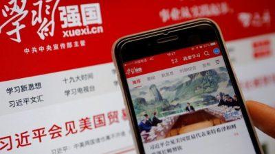 В Китае мобильное приложение используется властями для промывания мозгов гражданам