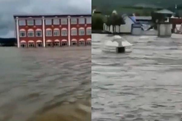 Префектура Дасинъаньлин провинции Хэйлунцзян пострадала от сильного наводнения в июне 2021 года. Скриншот видео   Epoch Times Россия