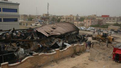 Число погибших в результате пожара в палате с больными COVID-19 в Ираке увеличилось до 92