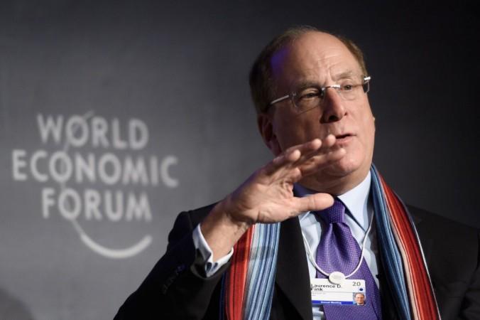 Председатель и генеральный директор BlackRock Лоуренс Д. Финк принимает участие в ежегодном собрании Всемирного экономического форума (ВЭФ) в Давосе 23 января 2020 г. (FABRICE COFFRINI / AFP через Getty Images) | Epoch Times Россия