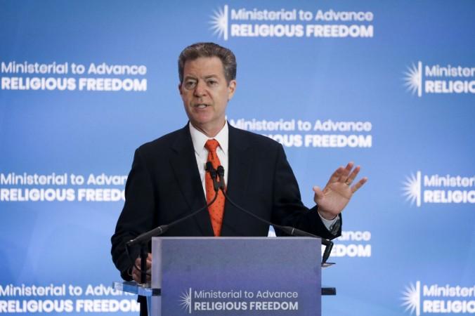 Сэм Браунбэк, бывший посол США по международной религиозной свободе, на Министерской конференции по продвижению религиозной свободы в Государственном департаменте в Вашингтоне 16 июля 2019 г. (File / Samira Bouaou / The Epoch Times) | Epoch Times Россия
