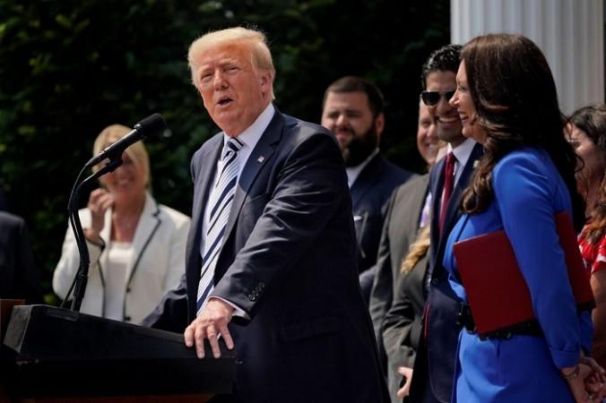 Бывший президент Дональд Трамп выступает в Национальном гольф-клубе Трампа в Бедминстере, штат Нью-Джерси, 7 июля 2021 года (Seth Wenig/AP Photo) | Epoch Times Россия