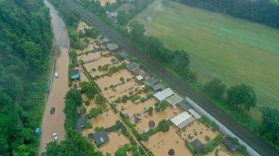 В Германии 4 человека погибли и 70 числятся пропавшими из-за наводнений