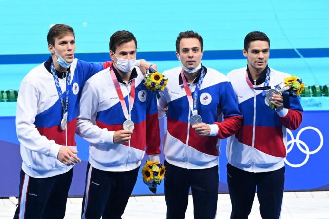 Российские пловцы — серебряные призёры в эстафете 4х200 м вольным стилем на Олимпиаде-2020