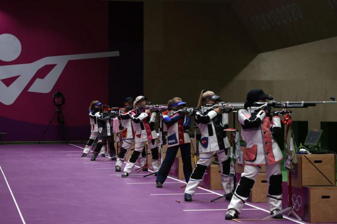 Стрельба из пневматической винтовки, Олимпиада-2020 в Токио, 24 июля 2021 года.Фото: by Kevin C. Cox/Getty Images   Epoch Times Россия