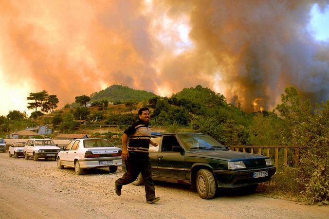 Лесные пожары в Анталье. Фото: OKAN OZER/AFP via Getty Images | Epoch Times Россия