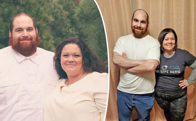 Obese couple 700x420 1 676x420 1 - Тучные супруги избавились от огромного веса, и это обнадёжило многих толстяков
