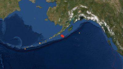 Землетрясение магнитудой 8,2 произошло недалеко от Аляски, сделано предупреждение о цунами