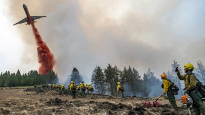 Тысячи пожарных сражаются слесными пожарами назападе США