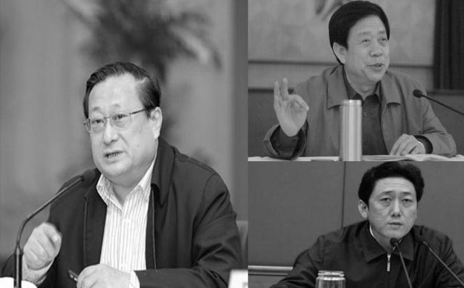 23 августа в рамках антикоррупционной кампании Китая были уволены трое высокопоставленных чиновников провинции Шаньси, в том числе Не Чунью (слева), главный секретарь партии провинции Шаньси, Чэнь Чуаньпин (справа внизу), секретарь партии столицы Тайюань, и Лю Суйджи (справа). -верху), секретарь комитета по политике и законодательству города Тайюань. (Скриншот / ifeng.com и 163.com)   Epoch Times Россия