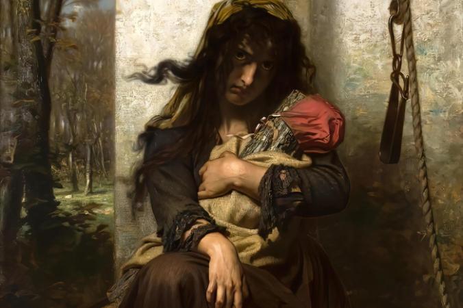Гуго Мерле «Сумасшедшая из Этрета», 1871 год. Общественное достояние | Epoch Times Россия