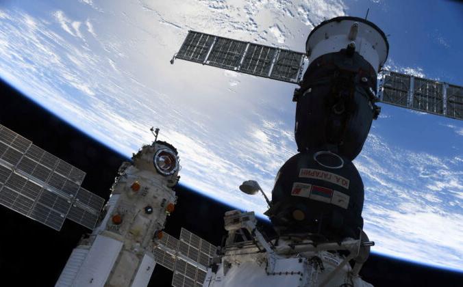 Многоцелевой лабораторный модуль «Наука» пристыкован к Международной космической станции (МКС) рядом с космическим кораблём «Союз МС-18» 29 июля 2021 года. Олег Новицкий / Роскосмос /Раздаточный материал Reuters   Epoch Times Россия