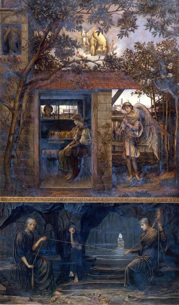 Джон Мелуиш Струдвик «Золотая нить», 1885 год/ общественное достояние