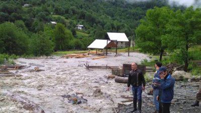В Дагестане селевым потоком унесло 5 человек (Видео)