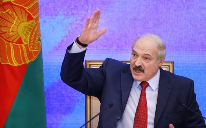 Президент Беларуси Александр Лукашенко выступает на пресс-конференции в Минске, Беларусь, 29 января 2015 г. Sergei Grits/AP Photo | Epoch Times Россия