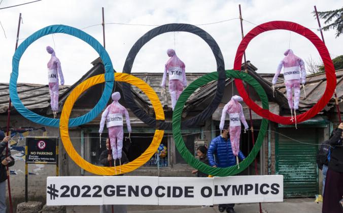 Тибетцы в изгнании выступают против зимних Олимпийских игр 2022 года в Пекине в Дхармсале, Индия, 3 февраля 2021 года. AP Photo / Ashwini Bhatia, File   Epoch Times Россия