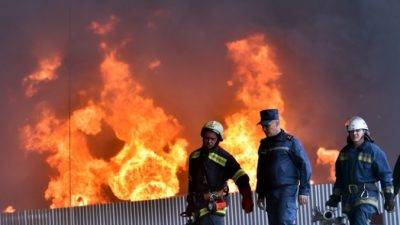 Пожар на заводе «Газпрома» привёл к сокращению поставок газа (Видео)