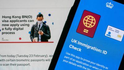 Китайские шпионы пытаются въехать в Великобританию по гонконгской визе