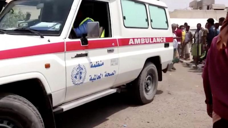 Машина скорой помощи возле больницы в Лахе, Йемен, 29 августа 2021 г. (Reuters/Screenshot via The Epoch Times)  | Epoch Times Россия