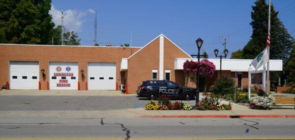 Lexington Village and Township Hall — это место, где располагаются офисы правительства деревни и городка. Он также содержит полицейский участок и пожарную часть. 23 августа 2021 г. (Стивен Ковач / Epoch Times)
