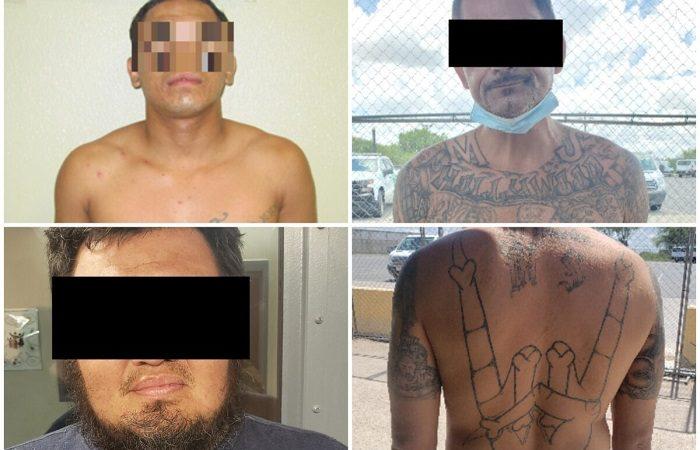 Преступники и члены банд, недавно арестованные пограничным патрулём после незаконного въезда в США. (CBP)    Epoch Times Россия